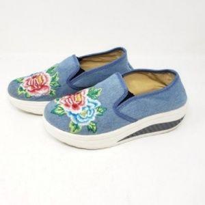 Fashion Blue Jeans Shoes Size 6/6.5